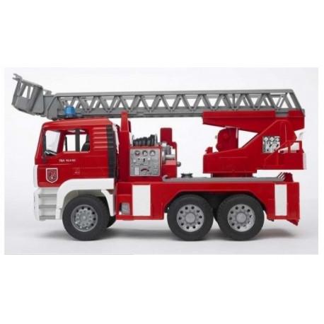 Bruder Пожарная машина с лестницей (водяная помпа+свет и звук),М1:16 (02771)