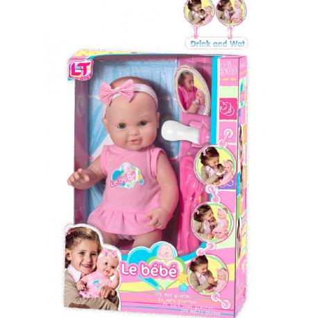 Писяющий резиновый пупс-девочка 43см (98901-А)розовый