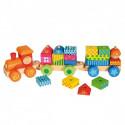 Паровоз с домиками-кубиками 82142