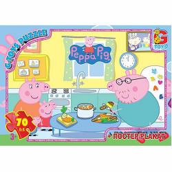 Пазли из серии Свинка Пеппа 70 эл. PP009 ТМ G-Toys
