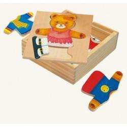 Пазлы, гардероб медведицы 88048