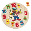 Пазл часы с клоуном mini 88103