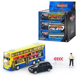 Набор транспорта 1370221 1:38, мет., автобус, машинка