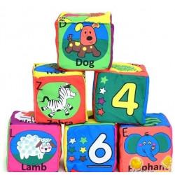 Набор мягких развивающих кубиков Biba Toys Учимся считать (606BS)