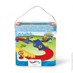Набор дорога с мостом,19ел. (45518 Viking Toys)