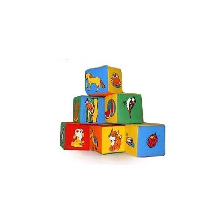 Набор кубиков. Живой мир 6шт.
