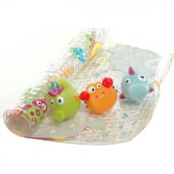 Набор коврик для ванны+ 3 игрушки 7410 уценка