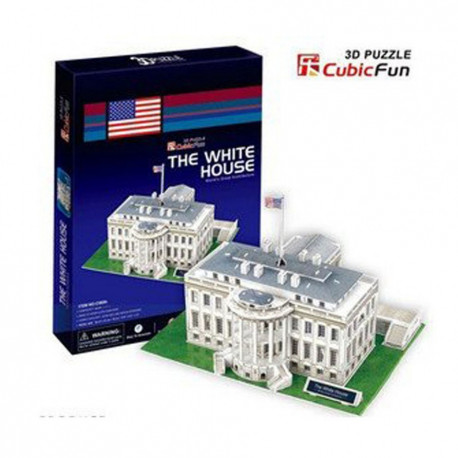 CubicFun Трехмерная головоломка-конструктор БЕЛЫЙ ДОМ C060h уценка