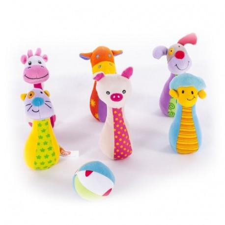 Мягкий боулинг Biba Toys Дружная ферма (544BS)