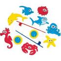 Набор для игры в ванной SES Рыбалка (2 удочки, 8 фигурок) 130255