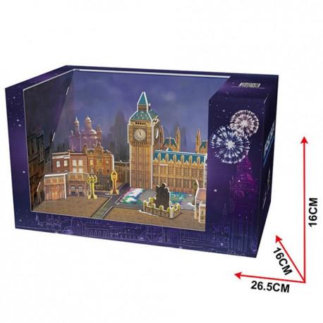 CubicFun Трехмерная головоломка-конструктор MAGIC BOX. НОВЫЙ ГОД В ЛОНДОНЕ OM3606h