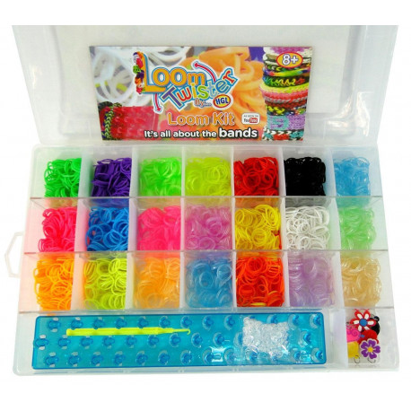 Набор Loom для плетения цветными резинками, 2500 резинок (500 ароматизированны)SV11822