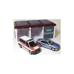 Набор 1:43 Гараж и 2 автомодели 203-007 уценка