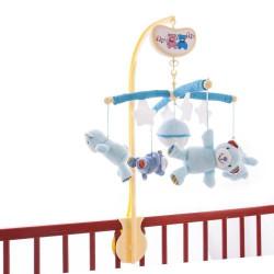 Музыкальный мобиль на кроватку Счастливые мишки голубой/розовый (038BM blue/pink)