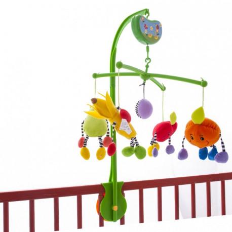 Музыкальный мобиль на детскую кроватку Biba Toys Сочные фрукты (082BM)