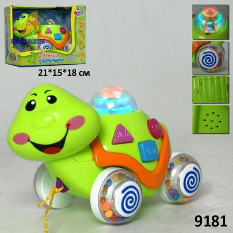 Музыкальная черепаха-каталка 9181-716