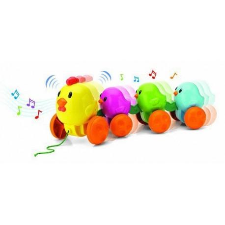 Музыкальная каталка Цыплята на прогулке (31518)