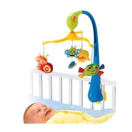 Мобиль на детскую кроватку Fisher-Price Первые друзья разноцветный (M5606)