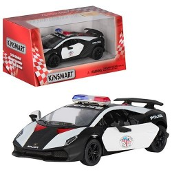 Машинка KINSMART полиция LAMBORGHINI SESTO ELEMENTO KT 5359 WP