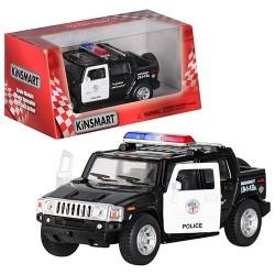 Машинка KINSMART KT 5097-PW HUMMER H2 POLICE, инерц., кор.