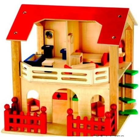 Кукольный домик с мебелью Bino (83550)уценка