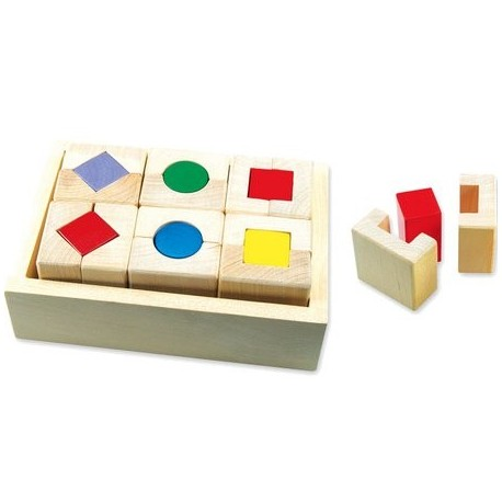 Кубики-сортер Bino Mertens Quattro Formen 70300 уценка
