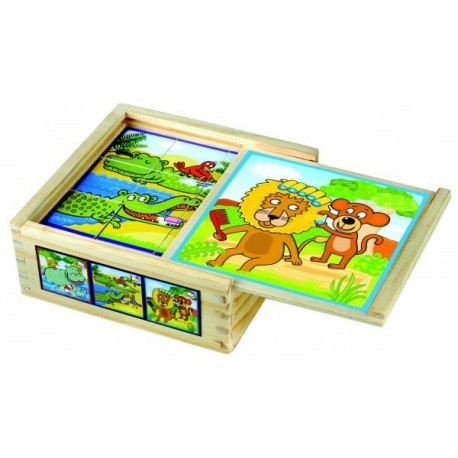 Кубики Веселые животные 84198