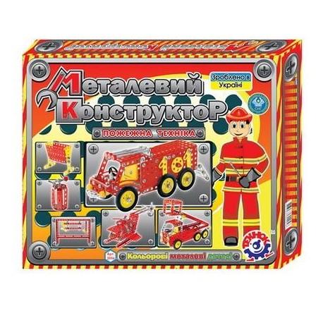 Конструктор мет. 2056 Пожарная техника ТЕХНОК