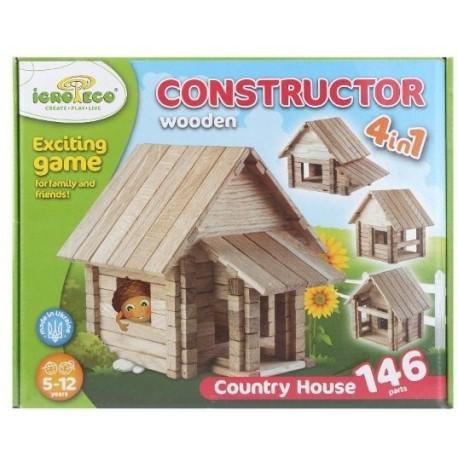 Конструктор Загородный дом 4в1 146дет.0031