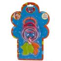 Кольцевая погремушка-подвеска с грызуном Biba Toys Листочки (095PP)