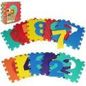 Коврик Мозаика M 2608 EVA, цифры, 10 дет., массажный, 6 текстур