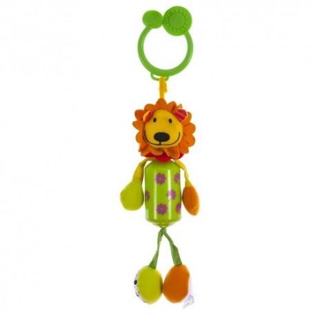 Игрушка-подвеска со звоночком Biba Toys Львенок-путешественник (022JF lion)