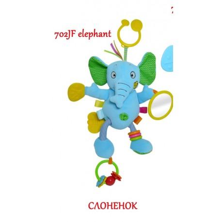 Игрушка-подвеска Biba Toys Активный слоненок 702JF