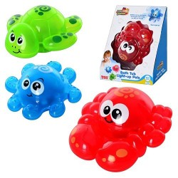 Игрушка для ванной 4318-20 T 3 виды, морские животные, свет., кор., 15 см