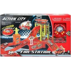 Игровой набор Пожарная станция со световыми и звуковыми эффектами (28114)уценка
