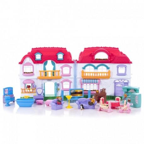 Keenway Мой милый дом (22002) - интерактивный кукольный домик с персонажами и мебелью