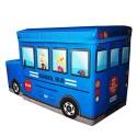 Детский пуф Автобус 55*26*31 синий УкрОселя