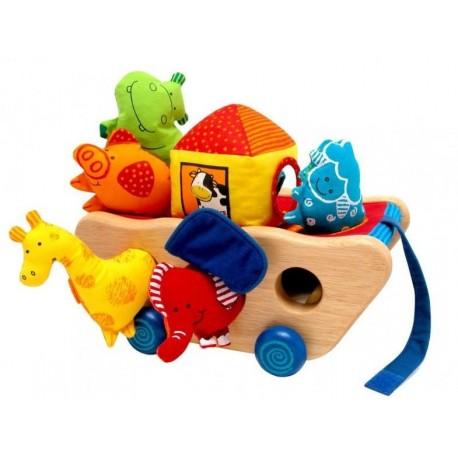 Деревянная игрушка-каталка Bino Ноев Ковчег (33008) уценка