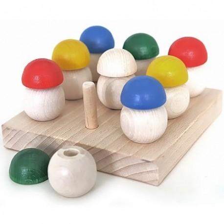 Деревянная Игра Собери грибочки 9шт Ду-41