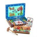 Деревянная игра - апликация с молоточком Транспорт DJECO DJ06641