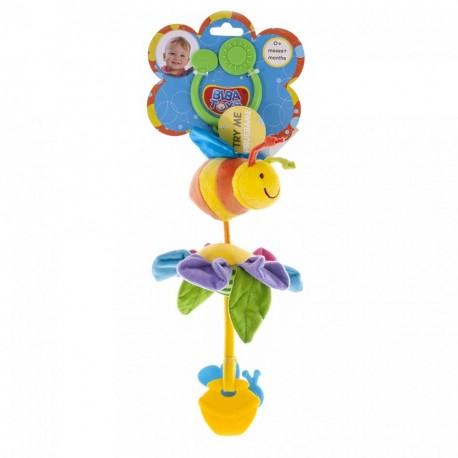 Вибрирующая игрушка-подвеска Biba Toys Пчелка-путешественница на цветке (111BR bee)