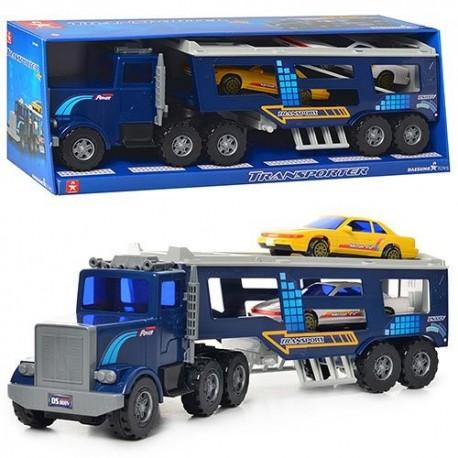Автовоз DS 806 инерц., подвижные детали, машинки 2 шт., кор., 54,5-18,5-14 см