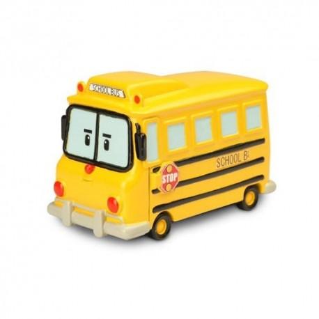 Школьный автобус Скулби металлический 6см Robocar Poli (83174)
