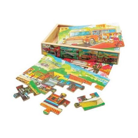 4 Пазлы в коробке Транспорт 88014