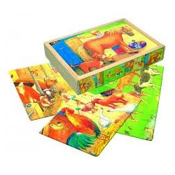 4 Пазлы в коробке Животные фермы 88092 уценка