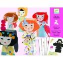 Художественный комплект Djeco Оригами Японские кокетки 09672 уценка