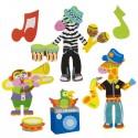 Набор стикеров для ванной Рок-музыканты ALEX 871W