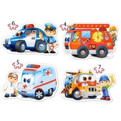Спасательные службы 4хPuzzle(4, 5, 6 ,7) В-04393