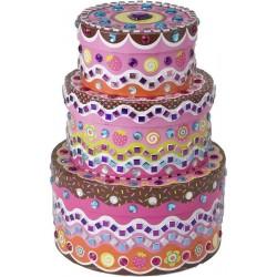 Набор для творчества Стикеровая мозаика - укрась шкатулку: Свадебный торт ALEX (178C)