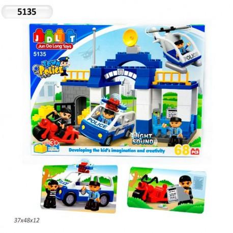 Конструктор JDLT 5135 Полицейский участок 68дет.